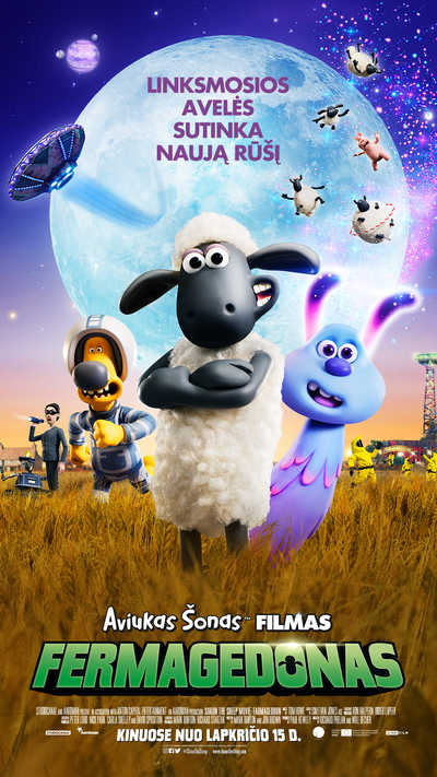 AVIUKO ŠONO FILMAS. FARMAGEDOINAS (Shaun the Sheep Movie: Farmageddon)