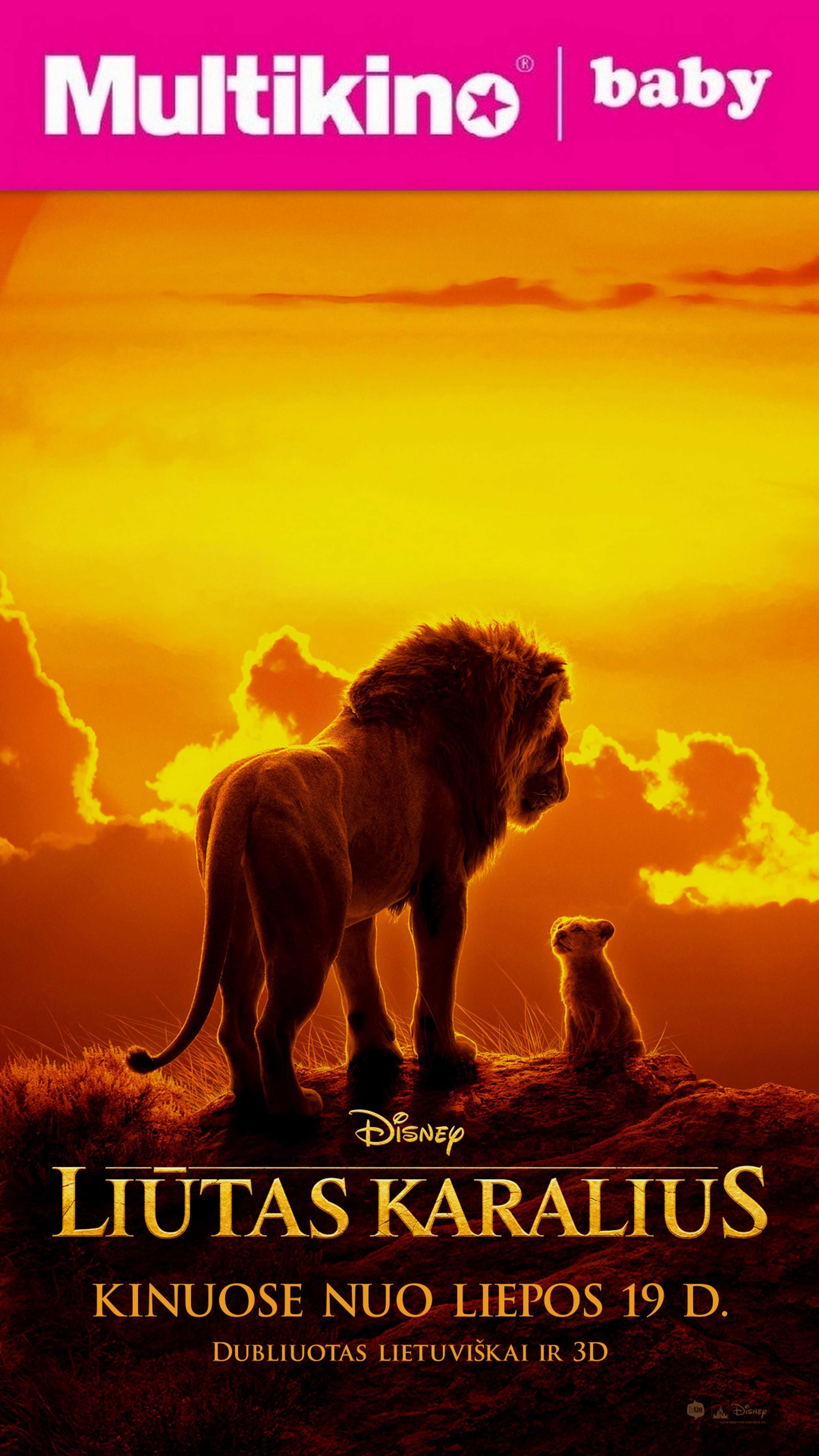 MultiBabyKino: LIŪTAS KARALIUS (Lion King)