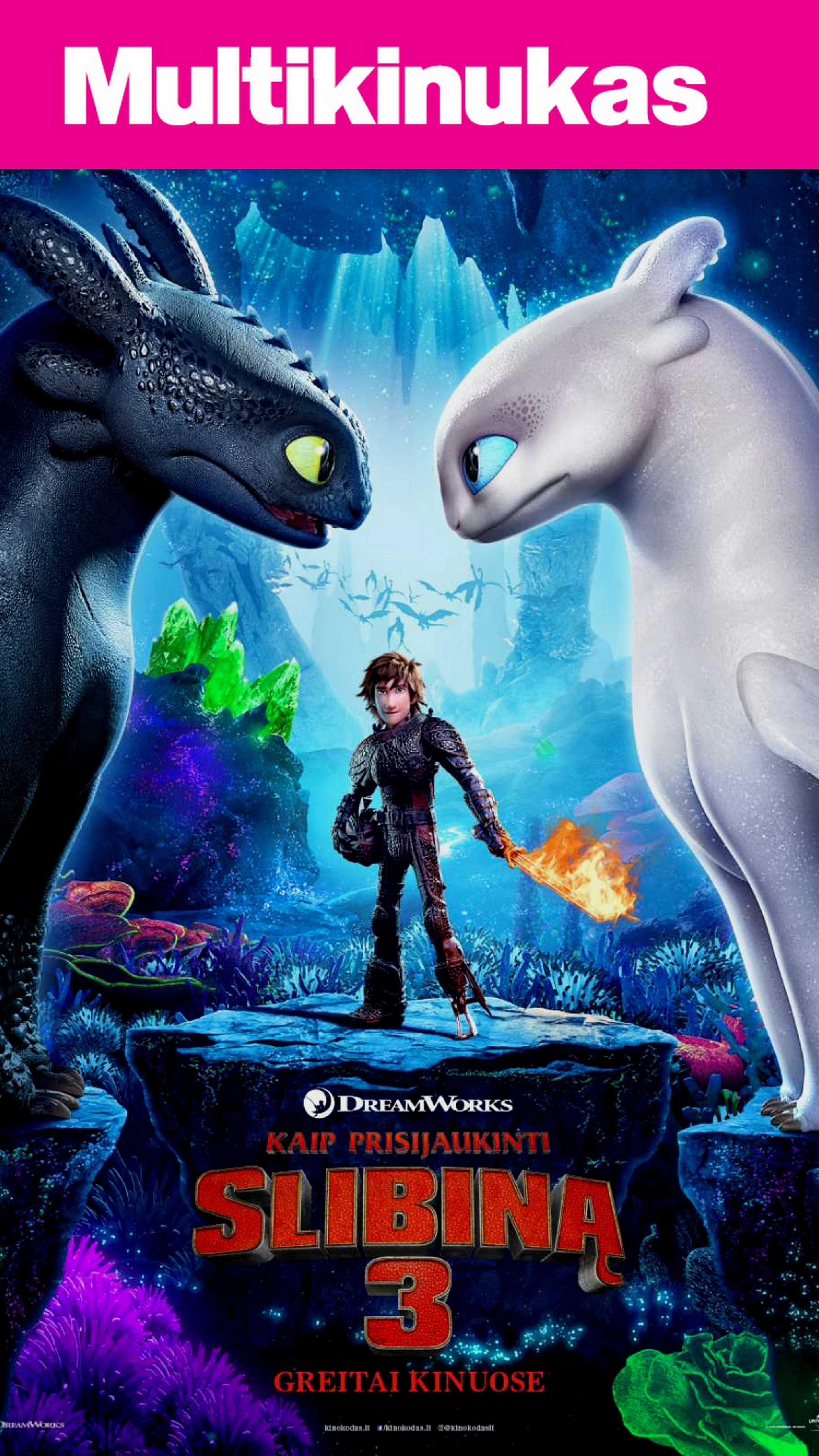Multikinukas: Kaip prisijaukinti slibiną 3 (How to Train Your Dragon: The Hidden World)