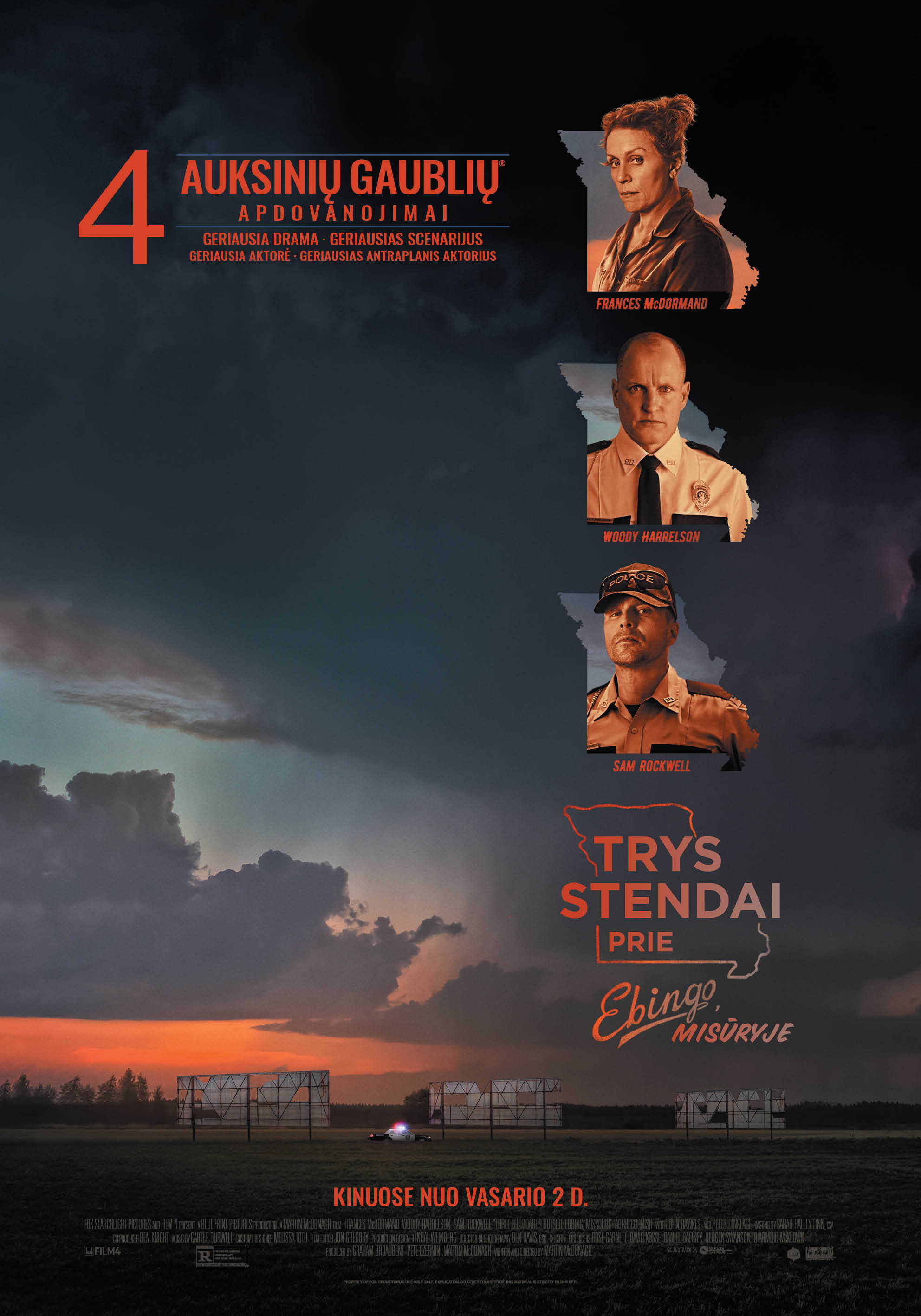 Trys stendai prie ebingo, misūryje (Three Billboards Outside Ebbing, Missouri)