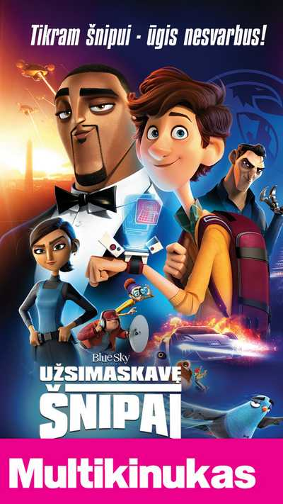 Multikinukas: UŽSIMASKAVĘ ŠNIPAI (Spies in Disguise)