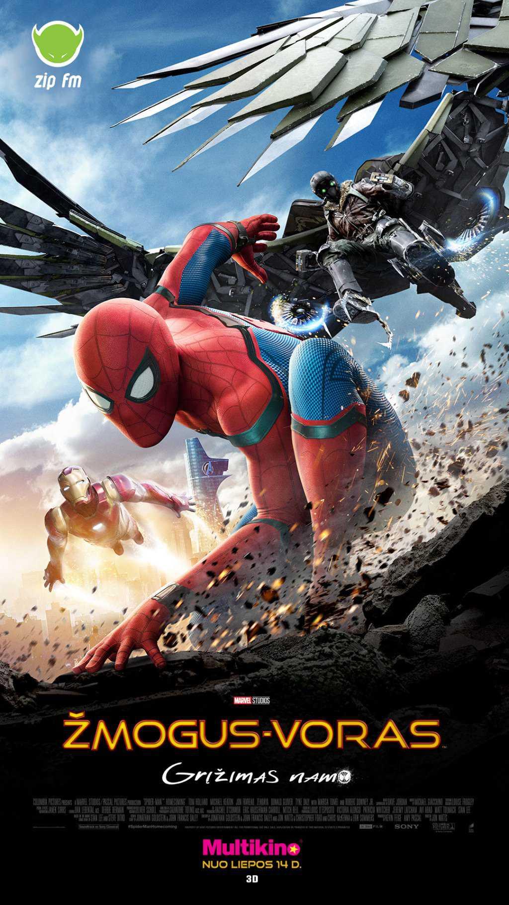 Žmogus-voras: grįžimas namo (Spiderman: Homecoming)