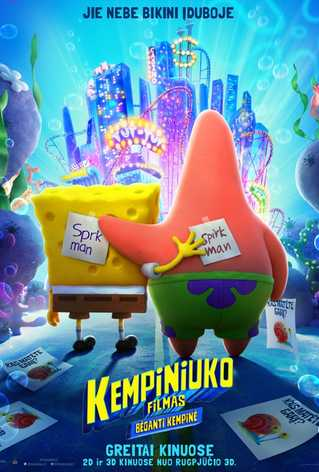 KEMPINIUKO FILMAS: BĖGANTI KEMPINĖ (The SpongeBob Movie: Sponge on the Run)