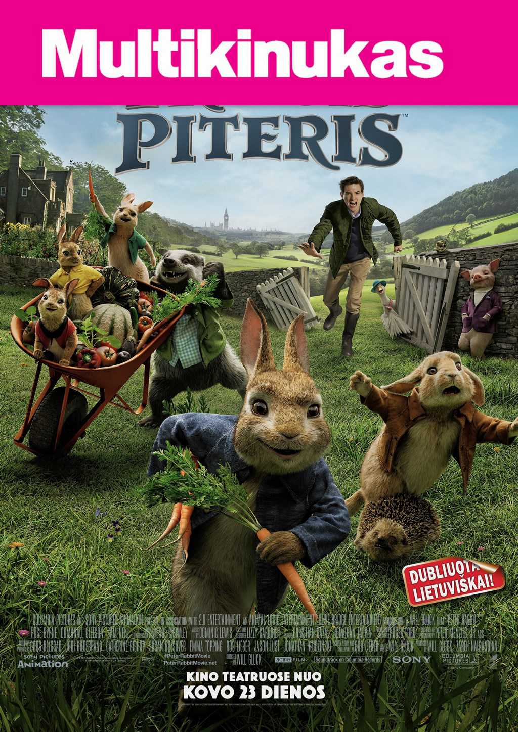Multikinukas: Triušis piteris (Peter Rabbit)