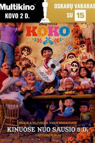 Oskarų vakaras : KOKO (COCO)
