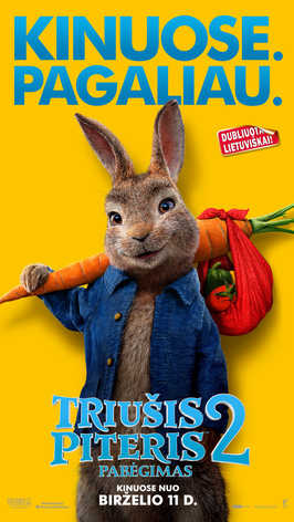TRIUŠIS PITERIS 2: PABĖGIMAS (Peter Rabbit 2)