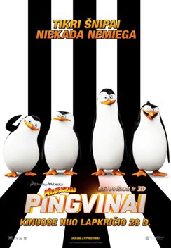 Madagaskaro pingvinai 3D