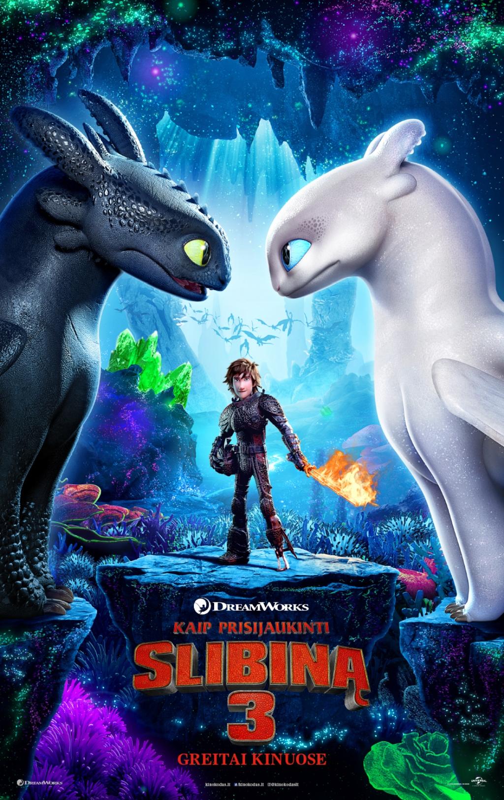 Kaip prisijaukinti slibiną 3 (How to Train Your Dragon: The Hidden World)