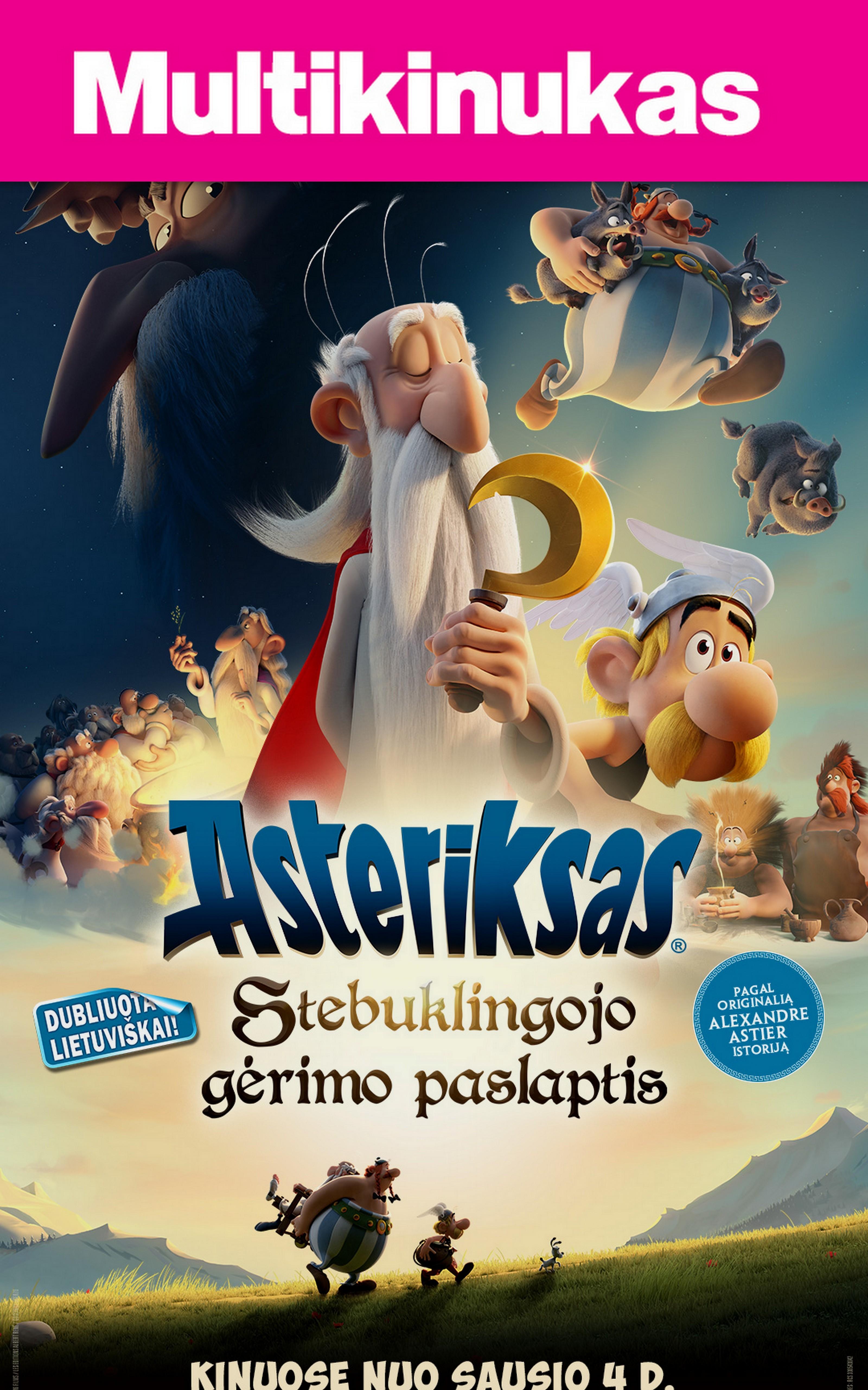MultiKinukas: ASTERIKSAS: Stebuklingojo gėrimo paslaptis (Asterix: The Secret of the Magic Potion)
