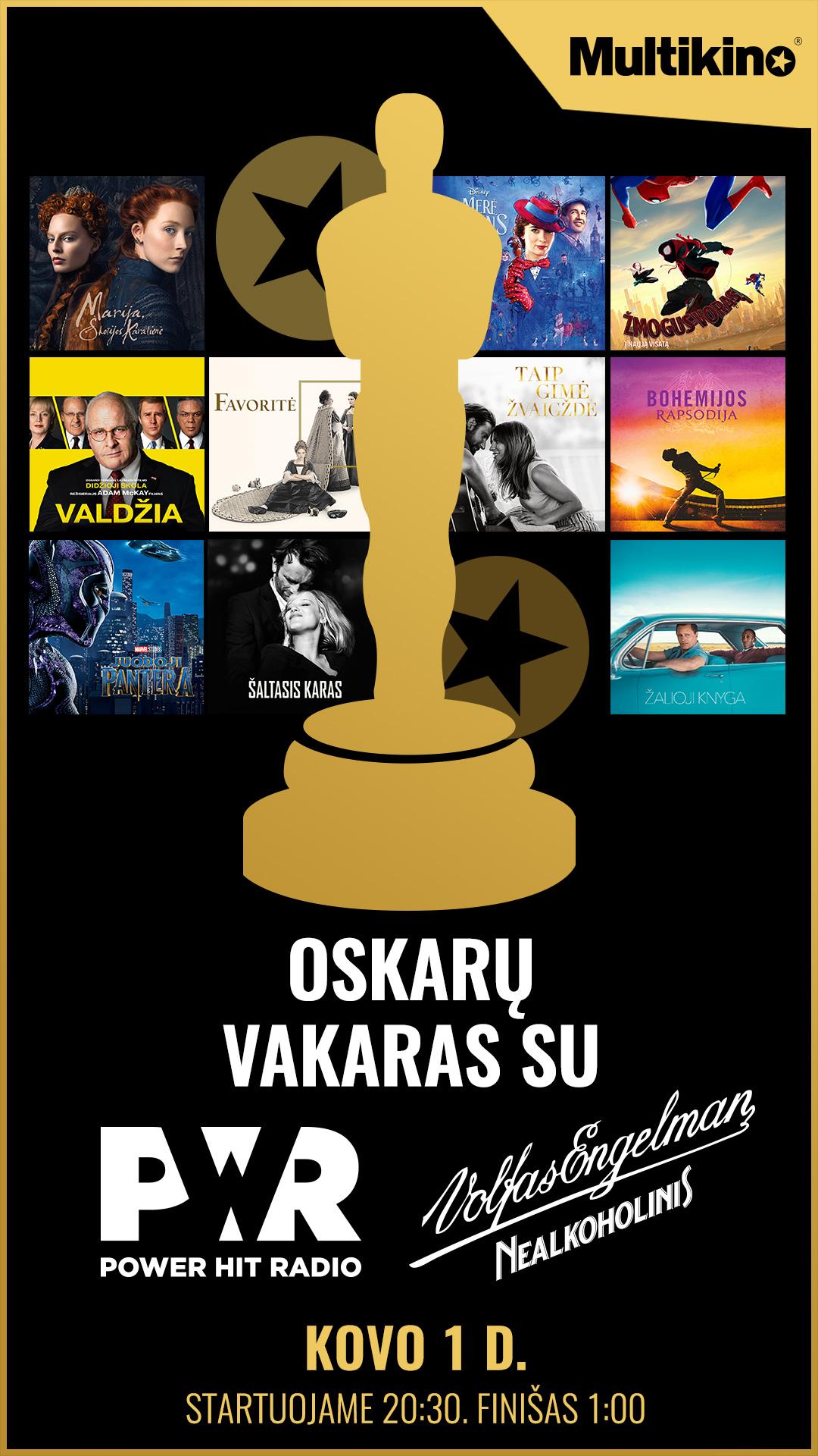 Oskarų vakaras : ŠALTASIS KARAS (Cold War)