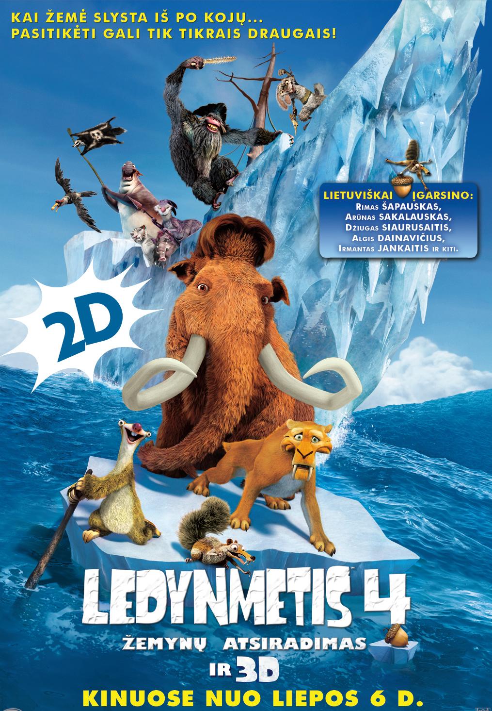 Ledynmetis 4: žemynų atsiradimas 2D